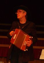 new corona ceilidh and barn dance band's melodeon player pennie gillis